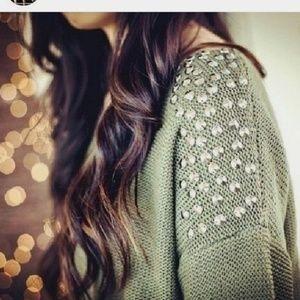 Windsor | Studded Shoulder Oversized Sweater